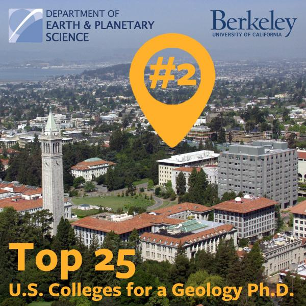 EPS, #2, top 25 U.S. College for Geology PhD